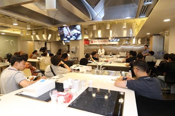 삼양사의 식자재 유통 브랜드 서브큐가 셰프플라자에서 중화 면요리 세미나를 개최했다. 사진=이종호 차장
